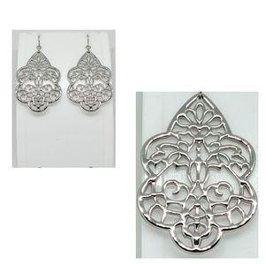 NWOT Silver filigree earrings